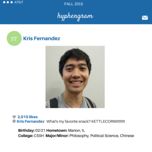 Service-Learning Street Team Member Kris Fernandez